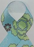 Flower Power Light Blue Grosgrain Ribbon