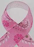 Paisley Pink Grosgrain Ribbon
