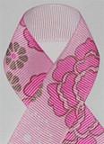 Flower Power Pink  Grosgrain Ribbon