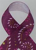 Paisley Purple  Grosgrain Ribbon