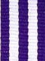 Purple w/ White Stripe Ribbon