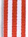Red w/ White Stripe Ribbon