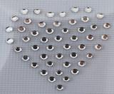 Solid Heart Rhinestone Crystals