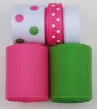 Hot Pink and Green Ribbon Mix 1