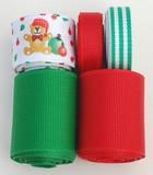 Christmas Teddy Bear Ribbon Mix