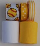 Softball Printed Ribbon Mix