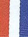 Red/ White and Royal Preppy Stripe Ribbon