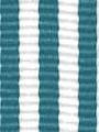 Teal and White Striped Ribbon
