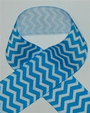 Chevron Ribbon | Turquoise Chevron Ribbon | Printed Ribbon For Hair Bows