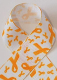 Yellow Gold Child Cancer Awareness Ribbon