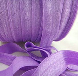 Purple Fold Over Elastic Ribbon
