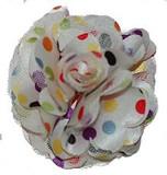 Rosette flowers - White Multi