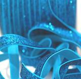 3/8 Blue Velvet Glitter Elastic