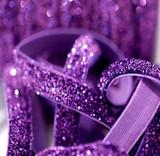 3/8 Purple Velvet Glitter Elastic