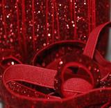 3/8 Red Velvet Glitter Elastic