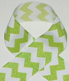 Lime Glitter Chevron Ribbon