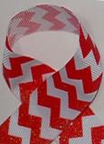 7/8 Red Glitter Grosgrain Ribbon for cheerleading hair bows