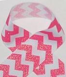 Shocking Pink Glitter Grosgrain Ribbon for cheerleading bows