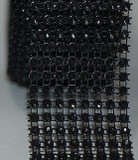 Black Rhinestone Craft ribbon for supplies and accessories.