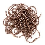 Antique Copper ball chain necklaces for jewelry and craft making. Add out ball chain necklaces to your craft supplies.