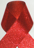 1.5 inch Glitter Red Metallic Grosgrain Craft Ribbon for Cheer Bows Craft Supplies and Hair Bows.
