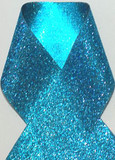 1.5 inch Glitter Blue Metallic Grosgrain Craft Ribbon for Cheer Bows Craft Supplies and Hair Bows.