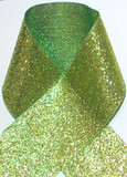 1.5 inch Glitter Lime Metallic Grosgrain Craft Ribbon for Cheer Bows Craft Supplies and Hair Bows.