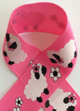 Bo Peep Sheep Glitter Printed Craft Ribbon