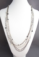 Gunmetal & Sterling Multi Strand