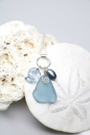 Swarovski Sea Snail & Cadet Blue Sea Glass