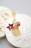 Swarovski Starfish & Lava Sea Glass