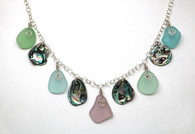 Pastels & Abalone Necklace