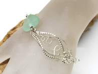 Sea Glass Jellyfish Bracelet