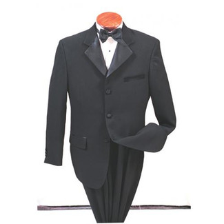 Black 3 Button Cheap  Tuxedo