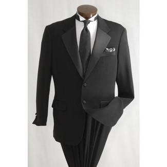 Black 2 Button Tuxedo