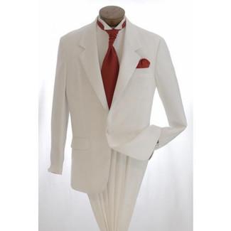 White 1 Button  Tuxedo