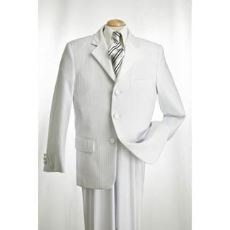 White Shadow Stripe  Tuxedo