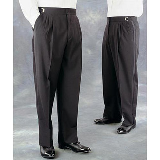 Poly/Wool Blend Tuxedo Trousers