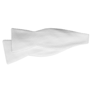 White Pique Mens Self Tie Bow Tie