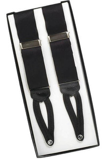 100% Silk Leather End Suspenders