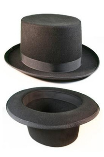 Black Formal Top Hat - Black Top Hat for Tails