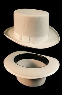 Formal White Top Hat - Men's White Top Hat