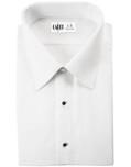 White Como Laydown Tuxedo Shirt by Cardi