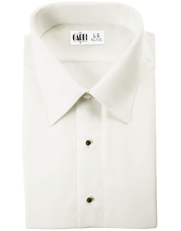 Ivory Como Laydown Tuxedo Shirt by Cardi