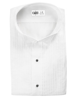 White Dante Wingtip Tuxedo Shirt by Cardi
