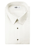 Ivory Enzo Laydown Tuxedo Shirt by Cardi