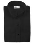 Black Lucca Wingtip Tuxedo Shirt by Cardi