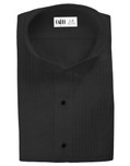 Black Dante Wingtip Tuxedo Shirt by Cardi
