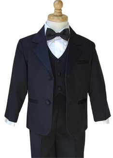 Boys Black Tuxedo Package