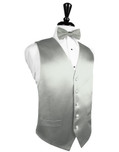 Platinum Silk Tuxedo Vest